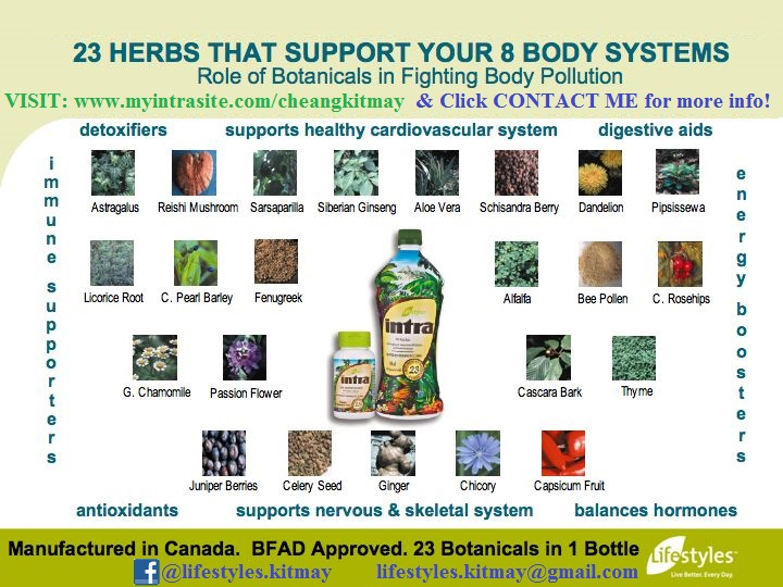 INTRA - 1 Product with 23 Botanical Extracts!