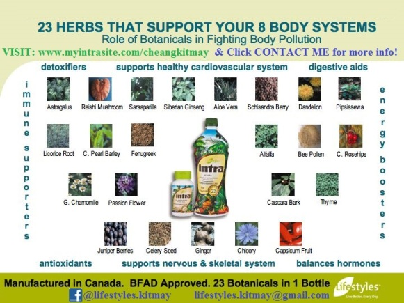 Lifestyles - Intra 23 Natural Hand-picked Botanicals Fight Body Pollution for YOU