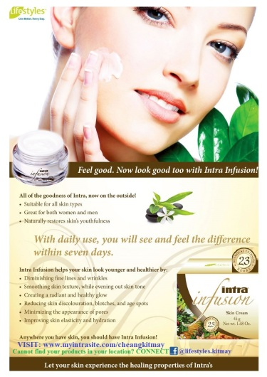 Intra Infusion - Protect You From UVB and same time heal and glow your skin towards Vitality and more Radiant SKIN!